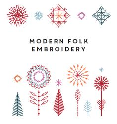 blog hop // modern folk embroidery book More
