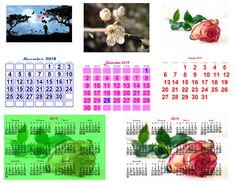 Create and print your own  custom calendars from the year 2007 to 2099. Choose the background photo, background opacity, matrix background, fonts, colours and more...