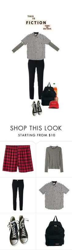"""""""f i c t i o n"""" by beowulf ❤ liked on Polyvore featuring Old Navy, Proenza Schouler, MICHAEL Michael Kors, Vans, Converse, Eastpak, men's fashion, menswear, rp and rpg"""