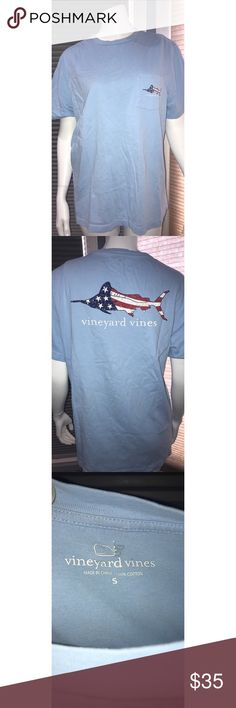 vineyard vines t-shirt great conditioned blue vineyard vines short sleeved t-shirt, size small. the whale is starting to come off of the label on the inside of the shirt. Vineyard Vines Shirts Tees - Short Sleeve