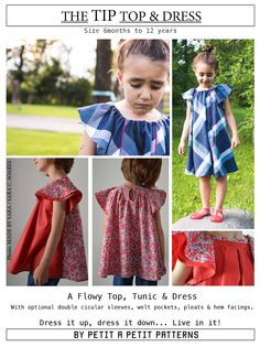 TIP TOP DRESS... PATTERN RELEASE//petitapetitandfamily.com