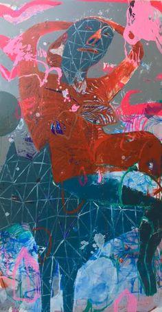 "Saatchi Art Artist Rusudan Khizanishvili; Painting, ""The Rider"" #art"