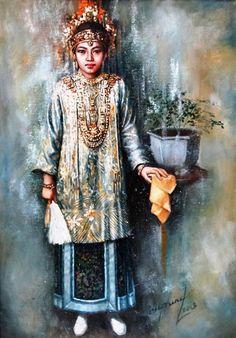 Impressioni Artistiche : ~ Josephine Linggar ~ Indonesian Art, Batik Fashion, Blue Lotus, Chinese Art, Chinese Painting, Realism Art, Magazine Art, Art Market, Lovers Art