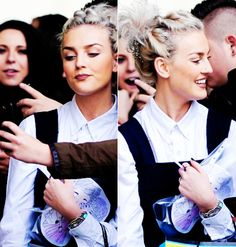Perrie and her drawing. Thts so cute