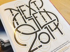 Typography for The Hollywood Reporter's Next Gen 2014 Issue. Full Detail attached.