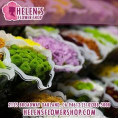 Order flowers online from your florist in Oakland, CA. Helen's Flower Shop, offers fresh flowers and hand delivery right to your door in Oakland.