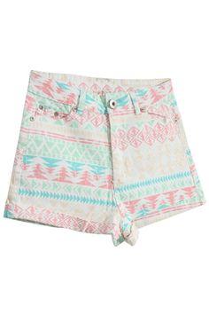 #ROMWE | High-waisted Turn-up Cuffs Shorts, The Latest Street Fashion