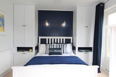 storage solution in a tiny bedroom by The Wee House Company