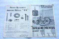 R.K Fonctionne sur tous Véhicules Les Arrache-Moyeux 1934.. Réf 04 | Collections, Objets publicitaires, Publicités papier | eBay!