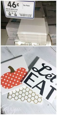 The next time you're at the hardware store pick up some inexpensive tiles and make some one-of-a-kind trivets!