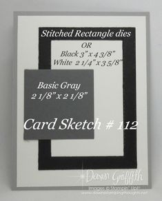 Card Sketch template by Dawn Griffith