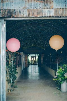 Image By Tori Hancock - A Colourful Contemporary Wedding At Cripps Stone Barn In The Cotswolds With Bride In Charlie Brear Gown And Gold Jimmy Choo Peeptoes And Groom In Bespoke Suit By Marc Wallace With Groomsmen In Bowties And Giant LOVE Letters From Doris Loves