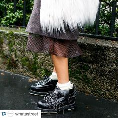Shoes that mean business. @whatastreet #streetstyleswipe #streetfashion #streetstyle #style