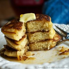 """Recipe from Nourishing Days Mr. """"He Cleans"""" requested pancakes for breakfast this weekend, and I was happy to give them a try. I haven't made pancakes since we went gluten-free an…"""