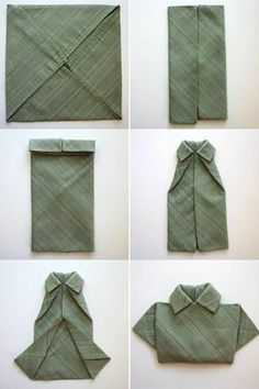 shirt pliage serviette