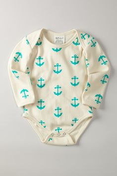 Love this! The color is my favorite and the anchors look so boyish and rugged! Adorable!