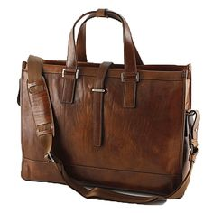 Conti of Tuscany Brown Stylish Luxurious Leather Business Bag