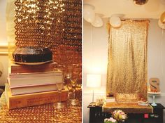 golden birthday party new years eve party decor