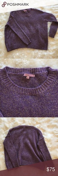 Calypso St Barth Alvina Metallic Alpaca Purple metallic sweater, NWOT. Calypso St. Barth Sweaters