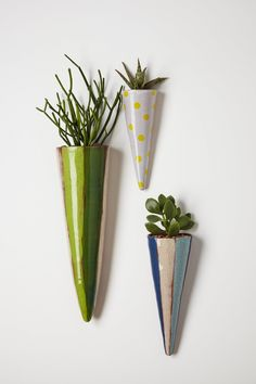 Carnival Cone Wall Planter - Anthropologie.com