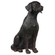 Sitting Labrador Garden Statue
