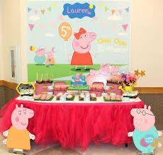 Resultado de imagen para peppa pig party table