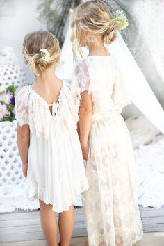 97fadae81f Girls boho lace dresses by Tea Princess perfect for family photos