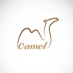 Vector image of an camel design by yod67 on @creativework247