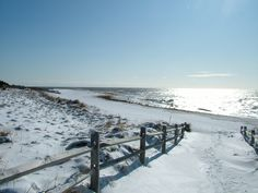Cape May Point in the snow some people say who wants to go to the beach in the Winter. Try Cape May  at Christmas or New Years , you will never forget it. It is magical