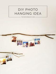 DIY - Boho/Rustic Photo Hanging Idea