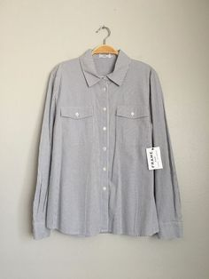 FRAME DENIM Casual Longsleeve Oxford Stripe Poplin Button Down Shirt Blouse $190 #FrameDenim #ButtonDownShirt #EveningOccasion