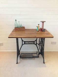 Refurbished Singer table