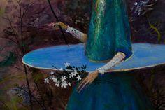Ștefan Câlția: poveștile artistului în culoare și sunete, într-o expoziție unică - AlistMagazine Bird, Places, Outdoor Decor, Artist, Painting, Image, Zeppelin, Natural Person, Birds