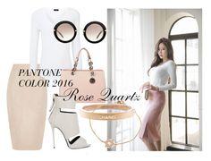 """Rose Quartz Pantone Color"" by ninamkt on Polyvore featuring moda, Oasis, Gumzzi, Joseph, MICHAEL Michael Kors, Giuseppe Zanotti, Miu Miu e Chanel"