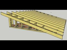 This video shows the erection procedure for a Skillion, Flat or monoslope, monopitch roof.