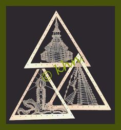 Klöppelmuster für Mini-Dreiecke 11 cm