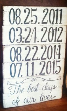The best days of our lives pallet sign