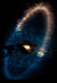 An image of Fomalhaut captured by ALMA telescope.
