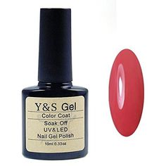 YandS Brand UV LED Gel Polish Soak off Gel nail polish Nail Art Polish 10ml ruby red * Check out the image by visiting the link.