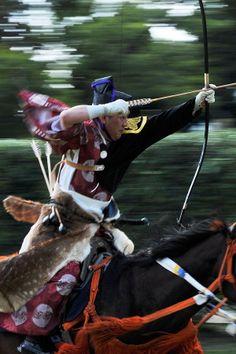 traditional mounting archery, Yabusame 流鏑馬