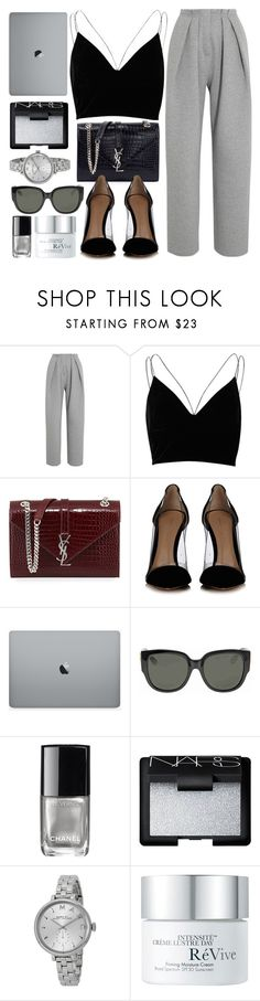 """Busy Days"" by monmondefou ❤ liked on Polyvore featuring Vika Gazinskaya, River Island, Yves Saint Laurent, Gianvito Rossi, Gucci, Chanel, NARS Cosmetics, Marc by Marc Jacobs, RéVive and black"