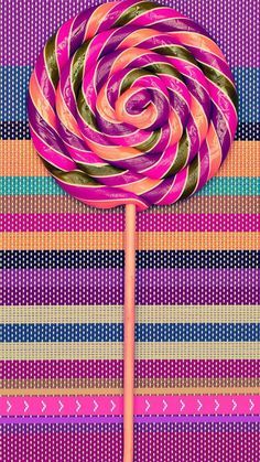Lollipop and Stripes Wallpaper Abstract Iphone Wallpaper, Hipster Wallpaper, Iphone 7 Wallpapers, Rainbow Wallpaper, Food Wallpaper, Wallpaper For Your Phone, Purple Wallpaper, Striped Wallpaper, Cellphone Wallpaper