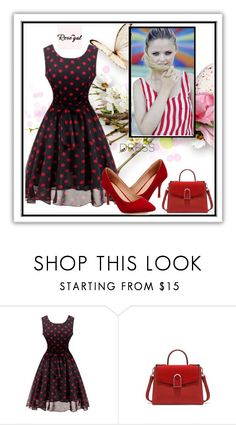 """Rosegal dress  26"" by adorotic-1 ❤ liked on Polyvore featuring vintage, fab, dress and rosegal"