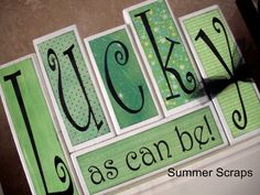 This St Patricks Day I am decorating with my Lucky Wood Blocks which are cute and easy to make!