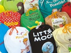story sacks: have children help create the sack by gathering items to place in the sack