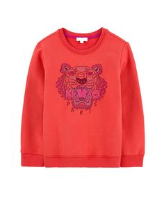 Tiger Sweatshirt Orange Red     kenzo  tinyapple  tiger  sweatshirt  orange 10b5cd37239