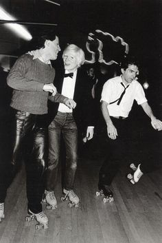 Andy Warhol at the Roxy Roller Disco, New York, 1980