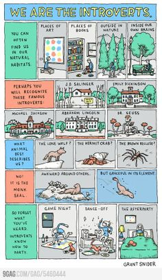 Being an introvert is sometimes difficult when like you need to get up and get something but you're too scared to cross the room because you don't want people to look at you J.d. Salinger, Susan Cain, Dr. Seuss, All Meme, In Natura, Bd Comics, Life Comics, Little Bit, I Can Relate