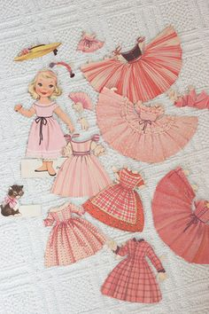 paper doll - this would have delighted me - being all pink and very girly!!