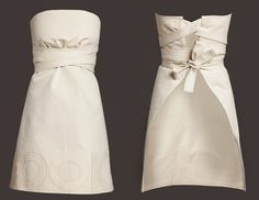 Pretty lady apron. Seems relatively simple; just add really, really long ties and wrap 'em up. Insta-dress/apron!